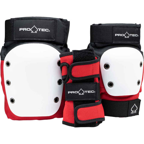 Pro-Tec Junior 3-Pack Pad Set - Red/White/Black