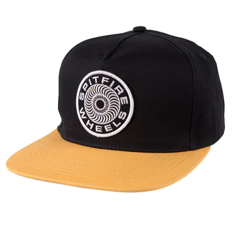 Spitfire Classic 87 Swirl Patch Snapback Cap - Navy/Yellow
