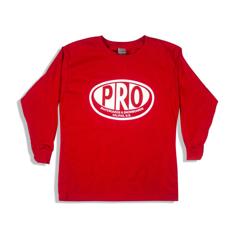 Pro Skates Youth L/S Tee - Red
