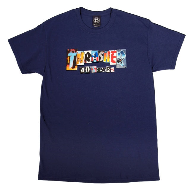 Thrasher 40 Years T-Shirt - Navy