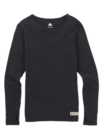Burton MDWT Merino Crew Base Layer - True Black Heather
