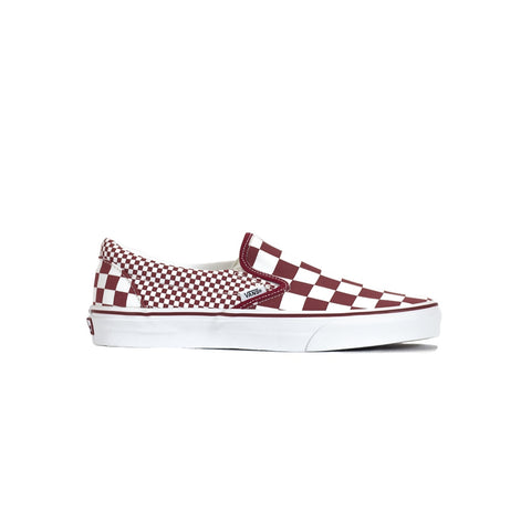 Vans Classic Slip-On Shoe - Checkerboard / Chili Peppe
