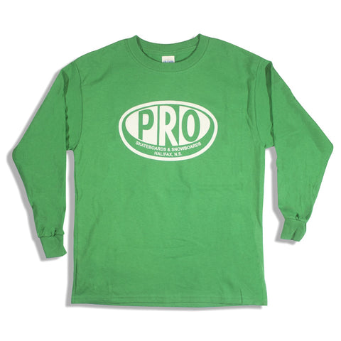 Pro Skates Youth L/S Tee - Irish Green
