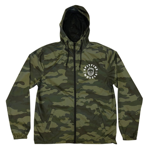 Spitfire Classic Lightweight Hooded Jacket - Forrest Camo/White