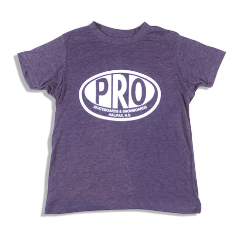 Pro Skates Youth Tee - Heather Purple