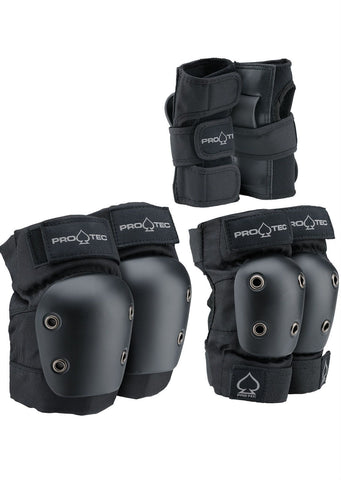Pro-Tec Junior 3-Pack Pad Set - Black