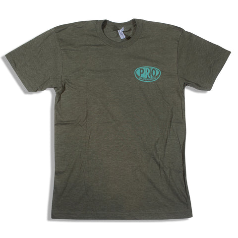 Pro Skates Proval T-Shirt - Heather Army Green