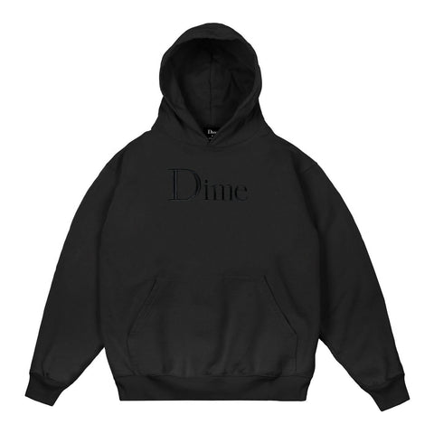 Dime Classic Logo Embroidered  Hood - Black