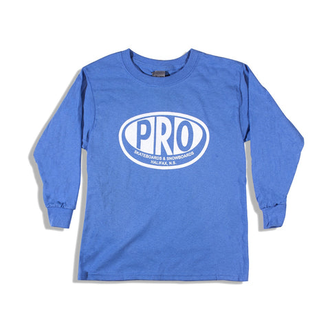 Pro Skates Youth L/S Tee - Car Blue