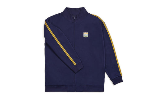 Brixton United Mock Neck Zip - Patriot Blue