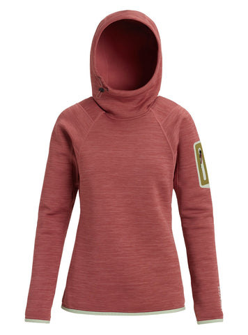 Burton AK Turbine Pullover Hoodie - Rose Brown Heather