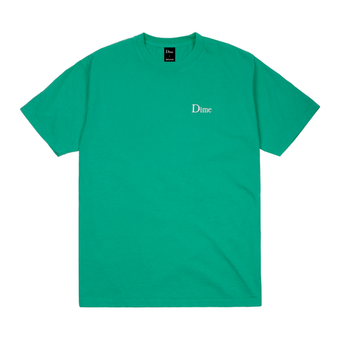 Dime Classic Logo Embroidered SS T-Shirt - Emerald