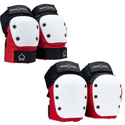 Pro-Tec Street Knee/Elbow Combo Pack - Red/White/Black