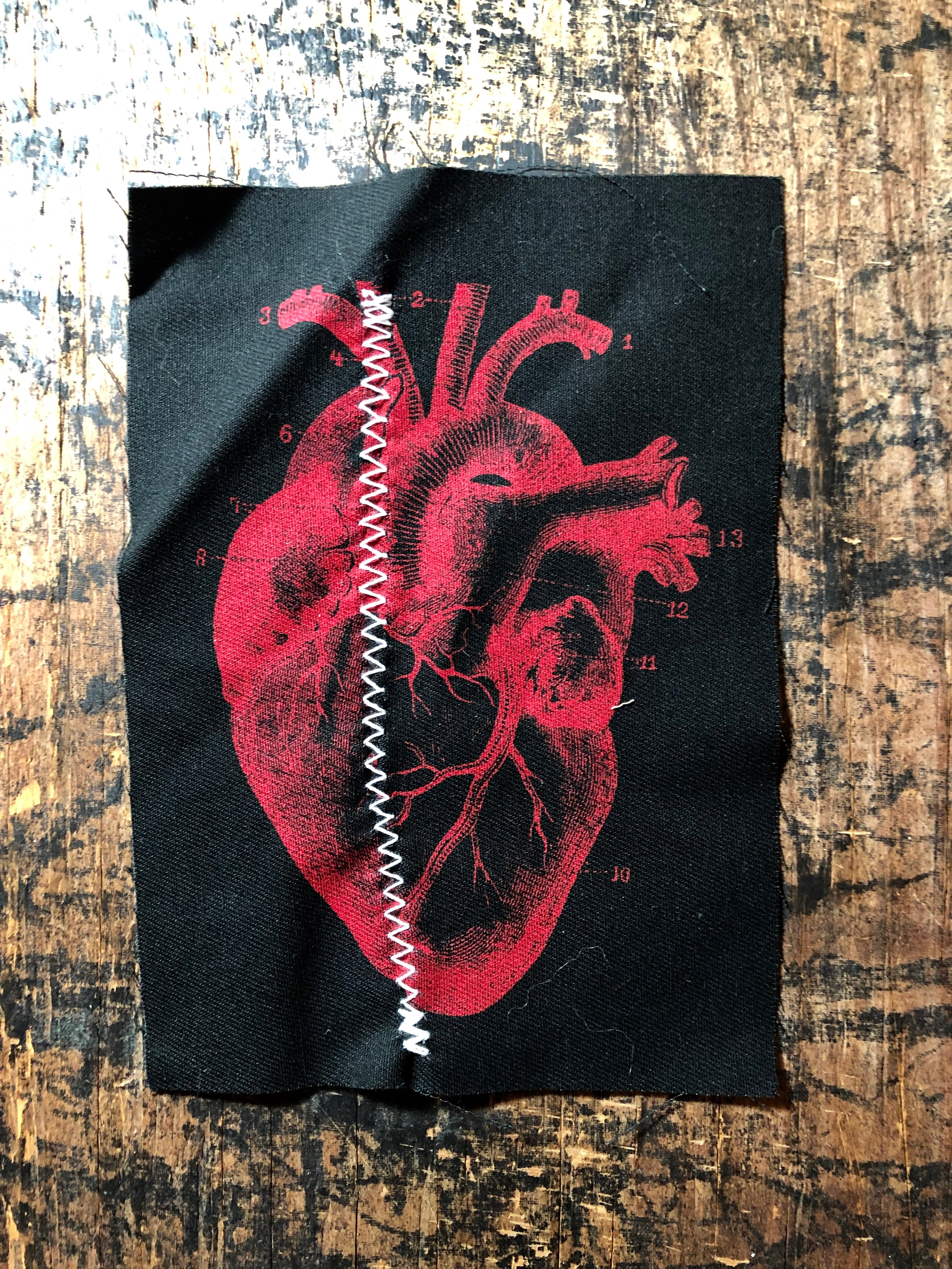 Graphic Heart Stitch Patch