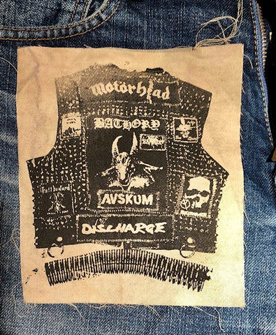 Crust Punk Vest Patch