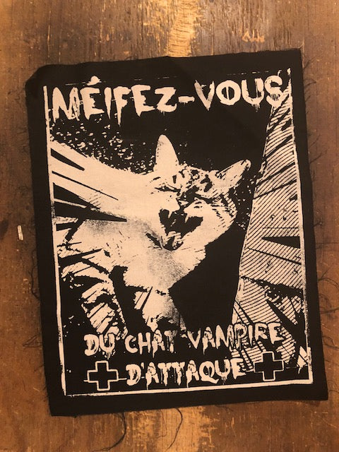 Vampire Cat Jacket Patch