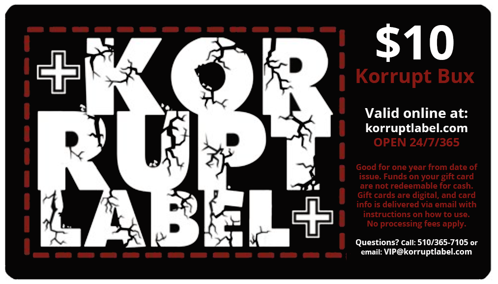 Korrupt Label $10 Gift Card
