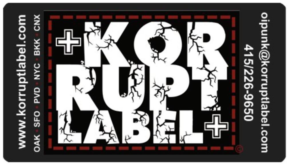 Korrupt Label Logo Stickers