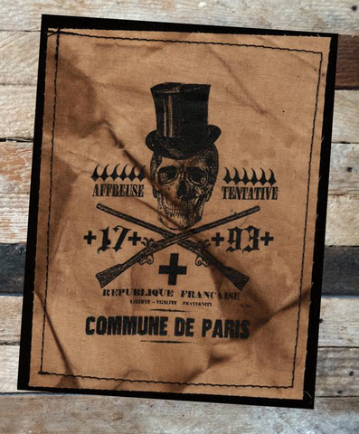 Tophat Skull Paris Patch