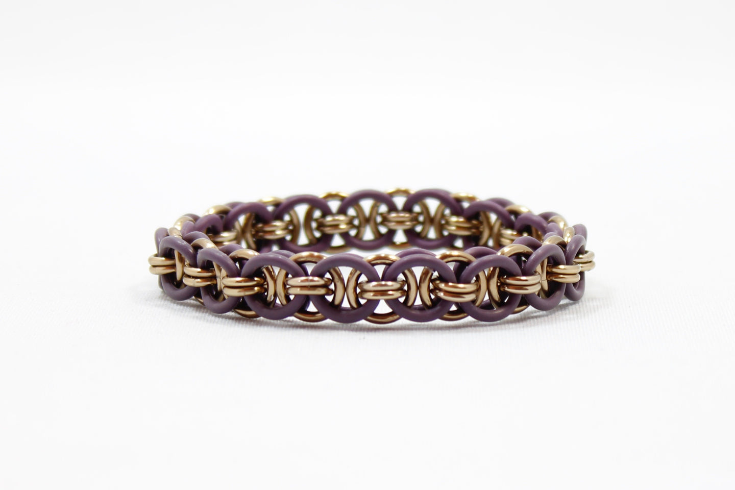 The Helm Stretch Bracelet in Purple + Champagne
