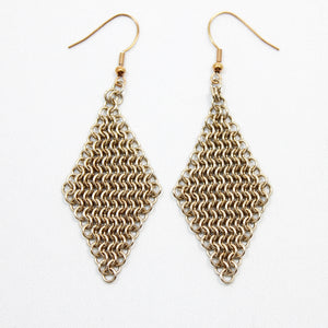 Micro Mesh Ear Rings in Champagne