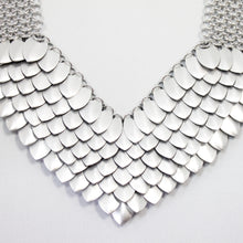 Load image into Gallery viewer, Metal Petal Necklace in Silver