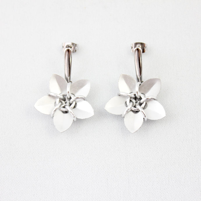 NEW! Metal Petal Ear Rings
