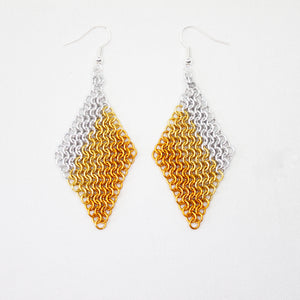 Mesh Ear Rings in Orange Fade
