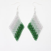 Load image into Gallery viewer, Mesh Ear Rings in Green Fade
