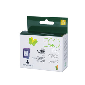 HP 63XL Combo Pack (Black / Colour) Remanufactured EcoInk - With ink level indicator - High Yield