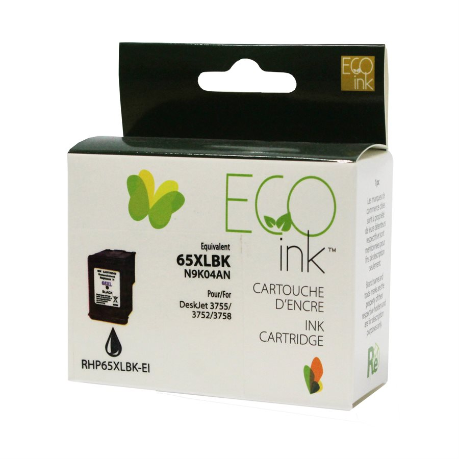 HP 65XL N9K04AN - Black EcoInk - With ink level indicator
