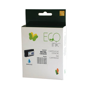 HP 951XL Remanufactured Cyan EcoInk - High Yield