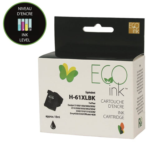 HP 61XL Remanufactured Black EcoInk - With ink level indicator - High Yield
