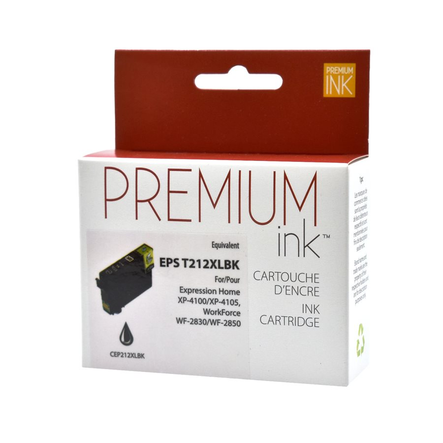 Epson 212 ( T212XL ) Compatible Premium Black Ink Cartridge - High Yield