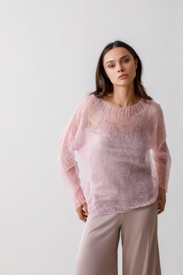 Mohair Sweater With Silk Camisole