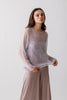 Hand Knitted Mohair pullover  with inner silk top