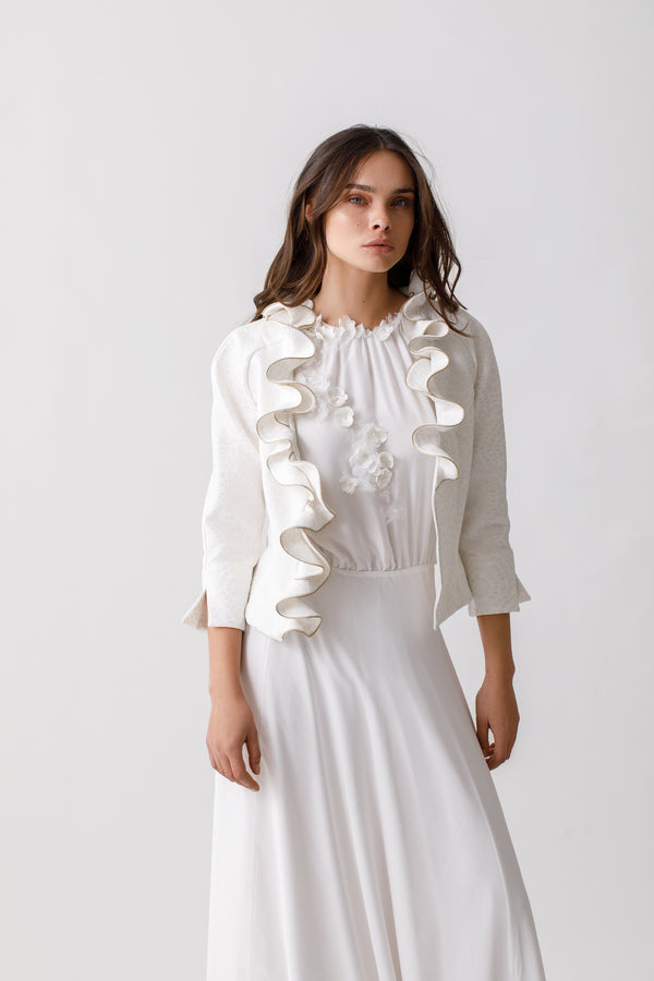 Frill Collar Jacket