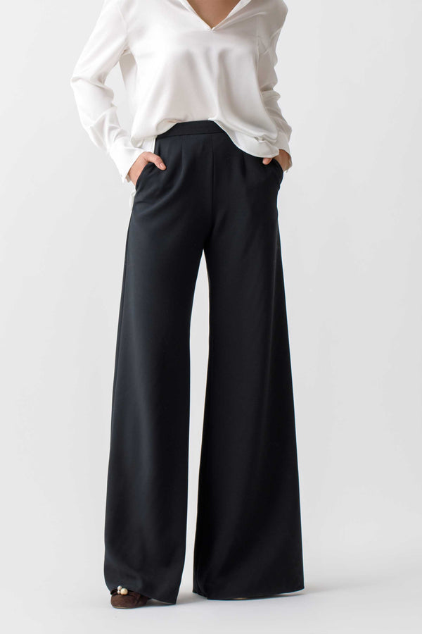 Wide lag pants with pockets