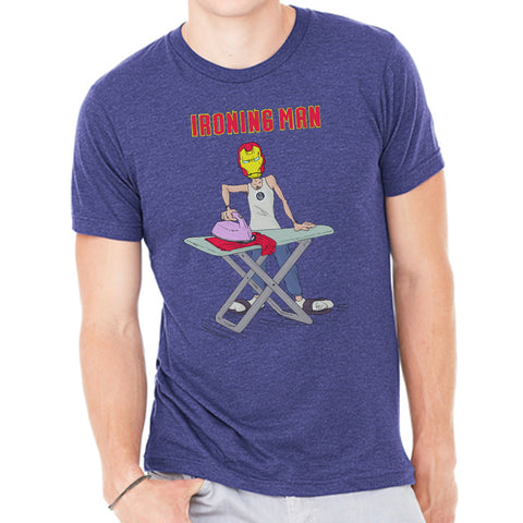 Ironing Man - Punny Tees