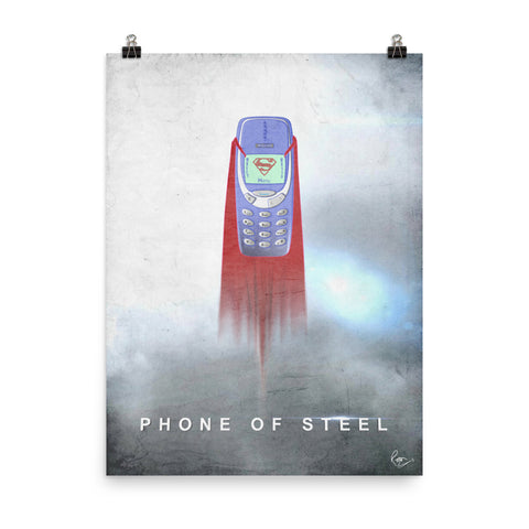 Phone of Steel - Punny Posters and Prints