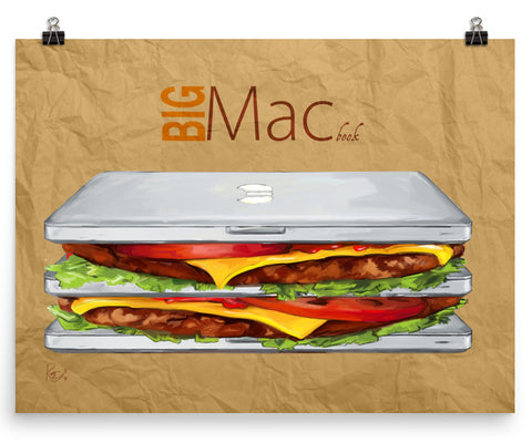 Big Mac Book - Punny Posters and Prints
