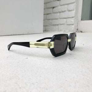 WILD PARADISE Black Neon Yellow Sunglasses