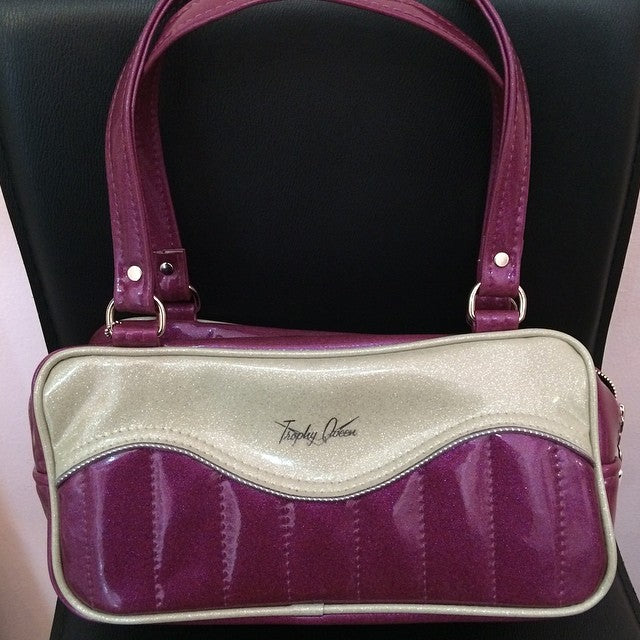 TQ Tuck & Roll Shoulder Bag Violet/Silver