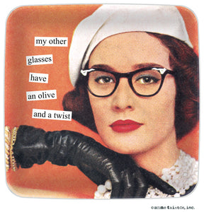 Anne Taintor My Other Glasses Mini Tray