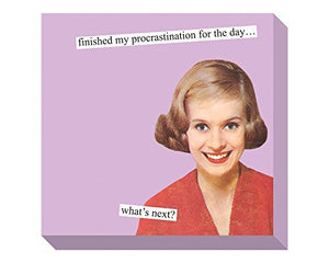 Anne Taintor Procrastination Sticky Notes