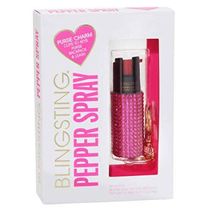 Bling Sting Rhinestone Pepper Spray Pink