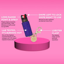 Load image into Gallery viewer, Bling Sting Rhinestone Pepper Spray Purple