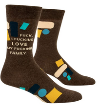 Load image into Gallery viewer, Blue Q Fuck I Fucking Love My Fucking Family Men's Socks