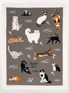 Blue Q People I Love Cats Dish Towel