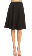Load image into Gallery viewer, High Waisted Swing Skirt Black